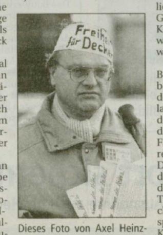 Heinzmann protestiert für Deckert